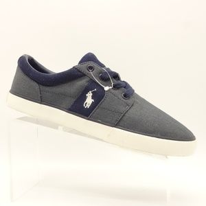 NEW POLO Halmore II Casual Sneakers Navy Canvas